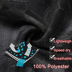 Mens Summer Mesh Quick-drying Printed O-neck Short Sleeve Casual Sport T-shirt