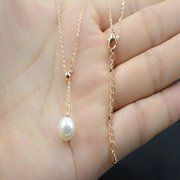 Fashion Pendnat Necklace Gold Chain White Pearls Charm Necklace Jewelry for Women
