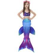 3Pcs Mermaid Tail Swimmable Bikini Bathing Suit Children Swimwear For Girls 4Y-13Y