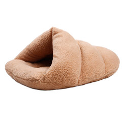 2 colores Shearling Velvet Pet Slipper Saco de dormir Kennel Dog Cat Cave Bed