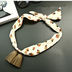 Women Pendants Wild Small Scarf Chiffon Satin Tassel Necklace Scarf