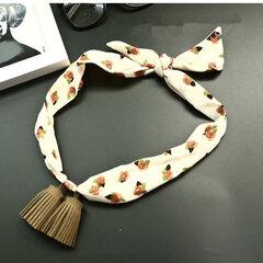 Pendentifs femmes sauvages petite écharpe collier en mousseline de soie satin gland foulard