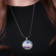 Animal Pattern Glow in the Dark Pendant Necklace
