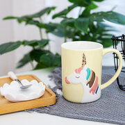 Water Cup Creative Nordic Style Unicorn Pattern Ceramic Mug