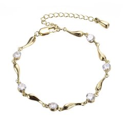 Fashion Anklets Platinum Plated Colorful Zircon Drop Anklets Formal Accessories Jewelry for Women