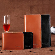 Men Genuine Leather Large Capacity Phone Bag Wallet