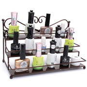 3 Tier Alloy Nail Polish Display organizzatore Rack Stand Cosmetic Makeup
