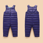 Solid Color Baby Autumn Winter Down Jumpsuit Outerwear For 6-48M