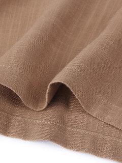 O-NEWE Pantalons Larges Unies Avec Poches Taille Haute À Cordon De Serrage Pour Femme