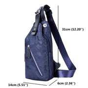 Outdoor Sports Chest Bag Waterproof Oxford Crossbody Bag Shoulder Bag For Men