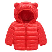 Waterproof Girls Boys Lightweight Downs Parkas Kids Warm Coat For 1Y-7Y