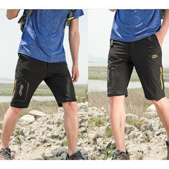 Mens Big Size Spring Summer Outdoor Pants Detachable Water-repellent Sport Shorts