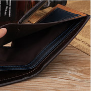 6 Card Slots PU Leather Wallet Horizontal Card Holder Coin Bag For Men