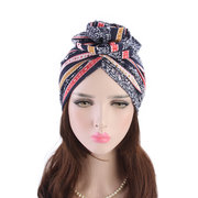 Frauen ethnischen Stil Beanies Cap Casual Cotton Solid Bonnet Hut