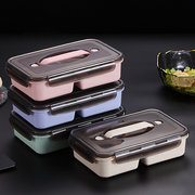 Portable Compartment Lunch Box With Rice Lunch Box  With Lid Separated Microwave Oven Heating