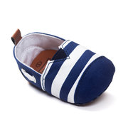 Canvas Stripe Slip On Flat Casual Pre-Walking Shoes For Baby For 0-24M
