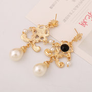 Elegant Pendant Earring Long Style Pearl Ear Drop For Women Earrings