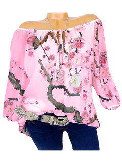 Floral Printed Casual Long Sleeve Blouses