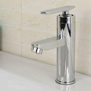Single Handle Bath Basin Sink Stainless Steel Hot And Cold Water Mix Faucet