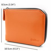 RFID Antimagnetic Waterproof Couro Genuíno Carteira 6 Card Slots Suporte Chave Para Homens