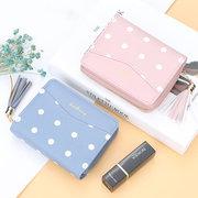 Damen Kurze Münze Geldbeutel Dot Wallet Tassel Card Holder