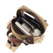 Vielseitige, vielseitige Herren Umhängetasche Multi-Carry Canvas Travel Outdoor Rucksack