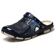 Men Water Friendly Hollow Out Slip-ons Slippers Casual Beach Sandals