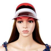 Женская специальная прозрачная ПВХ пустая верхняя шляпа Регулировка герметичности Visor Sun Cap