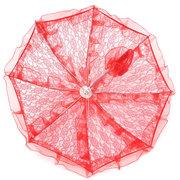 Parasol de fête de mariage de mariée de filles de fleur à la main de Battenburg de dentelle