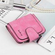 Женщины Trifold Кожа PU Короткие кошелек 8 карт слот монеты портмоне