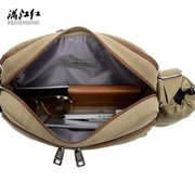 Men Cup canvas Multi-function Shoulder Bag Crossbody Bag