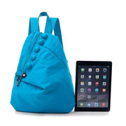 Women Nylon Safe Lock Casual PU Button Backpack Lightweight Travel Bag 7 Colors