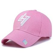 Women Geometric Lightning Cotton Baseball Cap Outdoor Casual Sunscreen Hip Hop Hat