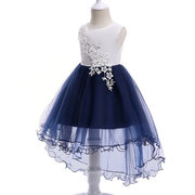 Faddish Flower Decor Ragazze Irregular Design Party Pageant Princess Dress per 3Y-13Y