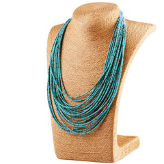Bohemian Necklaces for Women Multilayer Colorful Beads Tassel Necklace Statement Necklaces