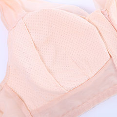 Wireless Front Zipper Cotton Lining Mesh Gather Wide Shoulder Strap Full Cup Bras