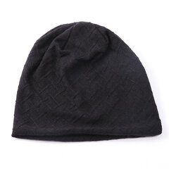 Men Women Mesh Acrylic Solid Soft Breathable Comfortable Multi-functional Warm Beanie Hat