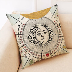 Mandala Tarot Creative Style Linen Throw Pillow Cover Home Office Back Cushion Cover Star Pillowcase