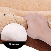 Shearling Velvet Suede Pet Sleeping Bed Cushion Mat Winter Warm Bed for Large Dogs