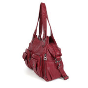 Women Multi-Pockets Handbag Solid Multi-carry Casual Crossbody Bag