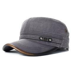 Gorra de béisbol plana de algodón para hombres