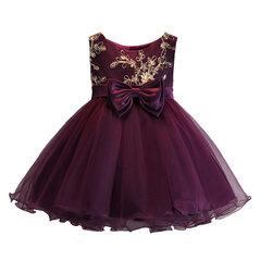 Bowknot Flower Girls Party Dress formelle pour 0-24 mois