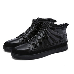Reflective Stripe Fashion Soft Flat Sport Lace Up Casual Shoes For Men