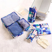 Nylon Geometric Pattern 6PCS Storage Bag Travel Bag Wash Bags Clothes Bags