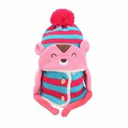 Girls Boys Baby Toddler Winter Beanie Warm Hat Hooded Scarf Knitted Wool Cap