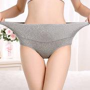 Plus Size algodão cintura alta barriga controle hip calcinha de levantamento
