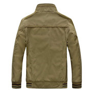 Autumn Military Outdoor Business Stitching Pure Cotton Stand Collar Jacket for Men