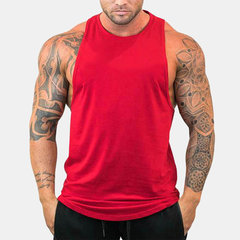 Mens Sports Gym Training Brief Breathable Quick-drying Sleeveless Plain Casual Tops