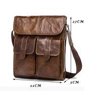 Эксклюзивная сумка через плечо из натуральной кожи для мужчин