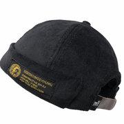 Men Women Couples Adjustable Solid Corduroy Velvet Brimless Hats Retro Vogue Crimping Bucket Cap